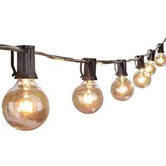 25ft G40 Globe String Lights With Clear Bulbs Ul Listed Backyard Patio Hanging Indoor Outdoor For Bistro Pergola Deckyard Tents Market