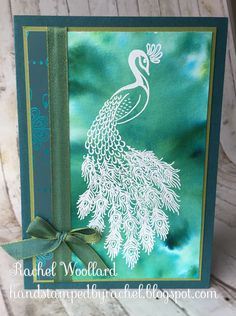 Paon Royal Pigment Saupoudr Stampin Up Card Making Tips, Making Ideas, Perfect Peacock, Peacock Christmas, Cute Cards, Cards Diy, Stampin Up Catalog, Bird Cards, Animal Cards