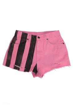 pink and black #shorts #fashion