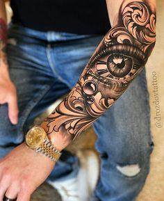 Forarm Tattoos, Forearm Sleeve Tattoos, Best Sleeve Tattoos, Dope Tattoos, Tattoo Sleeve Designs, Leg Tattoos, Body Art Tattoos, Realistic Tattoo Sleeve, Best Forearm Tattoos