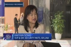 """Haiyan Song of Splunk says real-time data monitoring """"is really, really important"""" to combat cybersecurity threats because preventive measures will never be enough. Cyber Threat, Never, Songs, Song Books"""