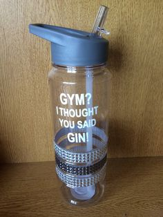 Gym water bottle grey diamante blue green funny quote gym gin sportsbottle motivation gym gift Christmas flip lid red quote sports by LoveartsGifts on Etsy Gym Water Bottle, Water Bottle Workout, Water Bottles, Red Quotes, Wine Glass Sayings, Vegan Wine, Funny Diet Quotes, Healthy Quotes, Jar Lanterns