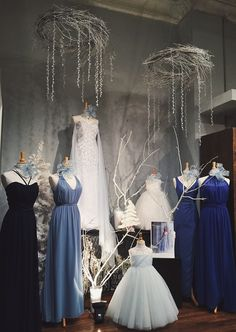 f95a50e76 Elsa and Frozen themed wedding dress window display from Normans Bridal  Shoppe in Lebanon, Missouri