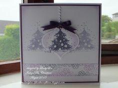 Oh Christmas Tree. Cas Christmas Cards, Fall Cards, Holiday Cards, Purple Cards, Handmade Christmas, Christmas Ideas, Christmas Holiday, My Stamp, I Card