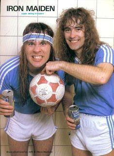 bruce dickinson and steve harris Iron Maiden, Rock And Roll Bands, Rock N Roll, 80s Metal Bands, Super Troopers, Bruce Dickinson, Punk, Axl Rose, Music Stuff