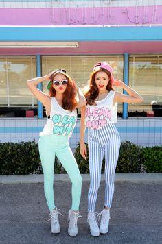 Jung Min Hee & Park Sora - Korean Hairstyle, Make-up, Style~