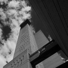 The Trellick Tower in West London, an example of modernist, brutalist architecture, designed by Erno Goldfinger