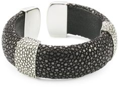 Zina Sterling Silver Cuff Bracelet In Black Stingray with Stingray Texture Zina Sterling Silver,http://www.amazon.com/dp/B0041KK23K/ref=cm_sw_r_pi_dp_hLklsb18W0SE6CCR