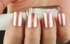 rose gold matte nails - Google Search