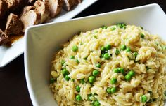 Orzo with Parmesan and Peas