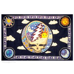 I love this tapestry. It looks grate in my house. Gives lots of color and happiness  Grateful Dead - Day & Night Steal Your Face Tapestry