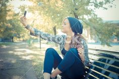 beautiful young blonde hipster woman selfie Royalty Free Stock Photo Get thrilling discounts on images, illustrations, Videos and music clips at iStockphoto with Coupon.