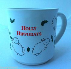 Sandra Boynton Christmas Holly Hippodays coffee mug