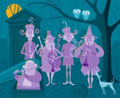 Illustration for Disneyland's 40th anniversary of The Haunted Mansion