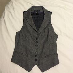 H&M Vest Cute best for work. Nice fit. Wool, polyester, viscose, and elastane blend. H&M Jackets & Coats Vests