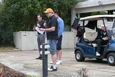 Golf Day MC Evan Bancroft. Photograph courtesy of photographer Steve Jones.