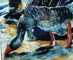 Brian Baxter: Goose Drinking Drinking, Birds, Art, Art Background, Beverage, Drink, Bird, Kunst, Art Education