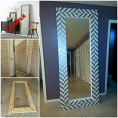 Old closet door mirror before turned into diy floor mirror diy diy floor mirror brief view from idea to end product solutioingenieria Images