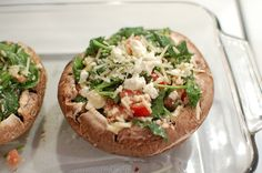 Made this tonight..amazing! My 17 y/o son loved it too!,,    Reckless Abandon: Spinach and Feta Stuffed Portabella Mushrooms