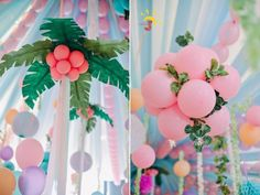 Kayla's Pink Flamingo Themed Party – Ceiling