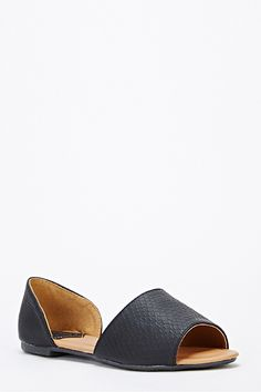 Wide Strap Cut Out Sandals