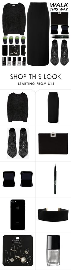 """Dancing all night long"" by igedesubawa ❤ liked on Polyvore featuring Carven, Junya Watanabe, Yves Saint Laurent, Roger Vivier, Stila, Chanel, Topshop, contest, contestentry and chelseaboots"