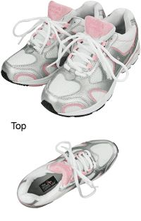 Pink Ribbon Running Shoes at The Breast Cancer Site