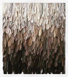 'Laid Down Earth' ~ textile, fiber, fabric art by Gerdien van Delt-Rebel Sculpture Textile, Textile Fiber Art, Textile Artists, Soft Sculpture, Instalation Art, Deco Nature, Recycled Art, Conceptual Art, Fabric Art