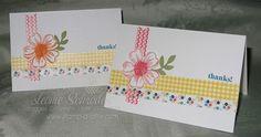 Stampin' Up! Flower Shop Note Stampin Up Flower Shop Bundle, Washi Tape, Lots of Thanks, Notecards #stampinup #flowershopbundle #thankyounote