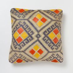 Honeycomb outdoor handwoven pillow (inspired by the traditional body paintings of Filipino warriors).
