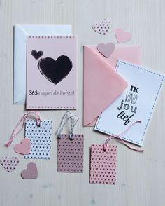 Win dit leuke setje valentijnskaarten en cadeaulabels op Facebook: http://on.fb.me/1zfb13g #wonenvoorjou #365dagendeliefste