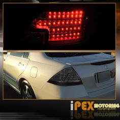2006 2007 Honda Accord 4dr Jdm Black Headlights W Led Tail Light Covers Smoke