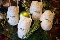 Image result for shabby chic christmas ornaments