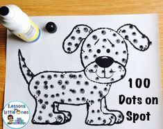 Day of School Ideas & Treats - Lessons for Little Ones by Tina O'Block 100 dots on Spot day of school activity plus additional fun ideas for 100 days of school treats, activities, awards 100 Day Project Ideas, 100 Day Of School Project, School Projects, 100 Days Of School Project Kindergartens, Art Projects, 100th Day Of School Crafts, 100s Day, 100 Day Celebration, Kindergarten Projects