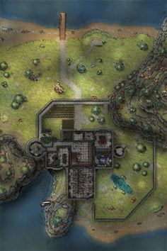 Fantasy Rpg Games, Fantasy Map, Dungeons And Dragons Homebrew, D&d Dungeons And Dragons, Dnd World Map, Pathfinder Maps, Building Map, Rpg Map, Dungeon Maps