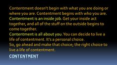 Are you really Content?