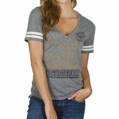 Junk Food Jacksonville Jaguars Ladies Tailgate Tri-Blend T-Shirt - Ash  Football Fashion c265c75e0