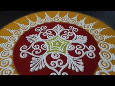 Sanskar Bharati Rangoli Design - YouTube Easy Rangoli Designs Videos, Simple Rangoli Border Designs, Easy Rangoli Designs Diwali, Rangoli Designs Latest, Rangoli Designs Flower, Free Hand Rangoli Design, Rangoli Ideas, Colorful Rangoli Designs, Flower Rangoli