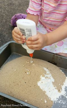 Dinosaur Fossils With Sand Dough | Preschool Powol Packets