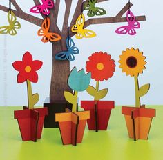 Burst into bloom with these lively decorations. Made of inkjet-printed poplar wood, these decorative pieces slot together to add some serious flower power to your space! Sprinkle our Bloom™ decorations across a springtime tablescape with our Sherwood™ trees or line them on your windowsill as a tribute to the blossoming season. #spring #decorating #seasonal