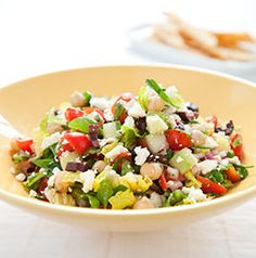 Mediterranean chopped salad (America's Test Kitchen) - was very fresh and tasty!