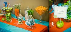 Green, Orange and Blue 1st Birthday Party! - Kara's Party Ideas - The Place for All Things Party