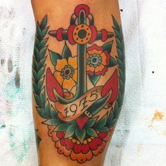 tattoo old school / traditional ink - anchor