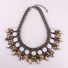Women's+Metal+Chain+Collar+Bib+Statement+Necklace