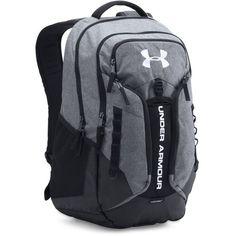 Under Armour UA Storm Contender Backpack ($80) ❤ liked on Polyvore featuring men's fashion, men's bags, men's backpacks, graphite and mens laptop backpack