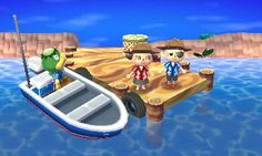 Animal Crossing: New Leaf Diary, Day 7: Went to the island with bf and got matching aloha shirts!