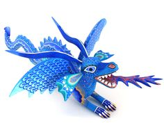 Coyote Aurora Sosa Oaxacan Wood Carvings gorgeous! 295 bucks. We don't own this one! Jr Art, Wood Animal, Colorful Animals, Painting On Wood, South America, Aurora, Dragons, Cool Designs, Folk