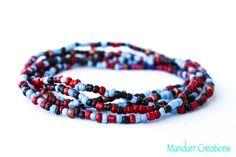 Seed Bead Stretch Bracelets Set of Five by MandarrCreations