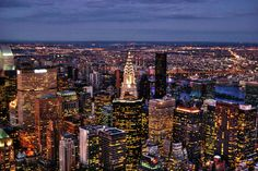 The NYC skyline from the Empire State Building looking toward the Upper East Side, Manhattan