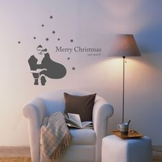 Wall Sticker Santa Claus Is Coming to Town